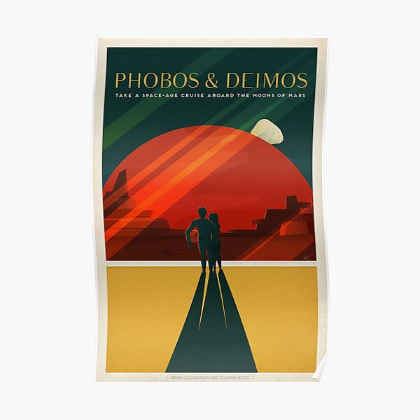 SpaceX Mars Colonization and Tourism Association: Phobos & Deimos (8K resolution) Poster