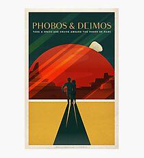 SpaceX Mars Colonization and Tourism Association: Phobos & Deimos Photographic Print