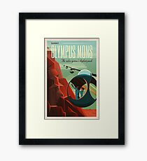 SpaceX Mars Colonization and Tourism Association: Olympus Mons Framed Print