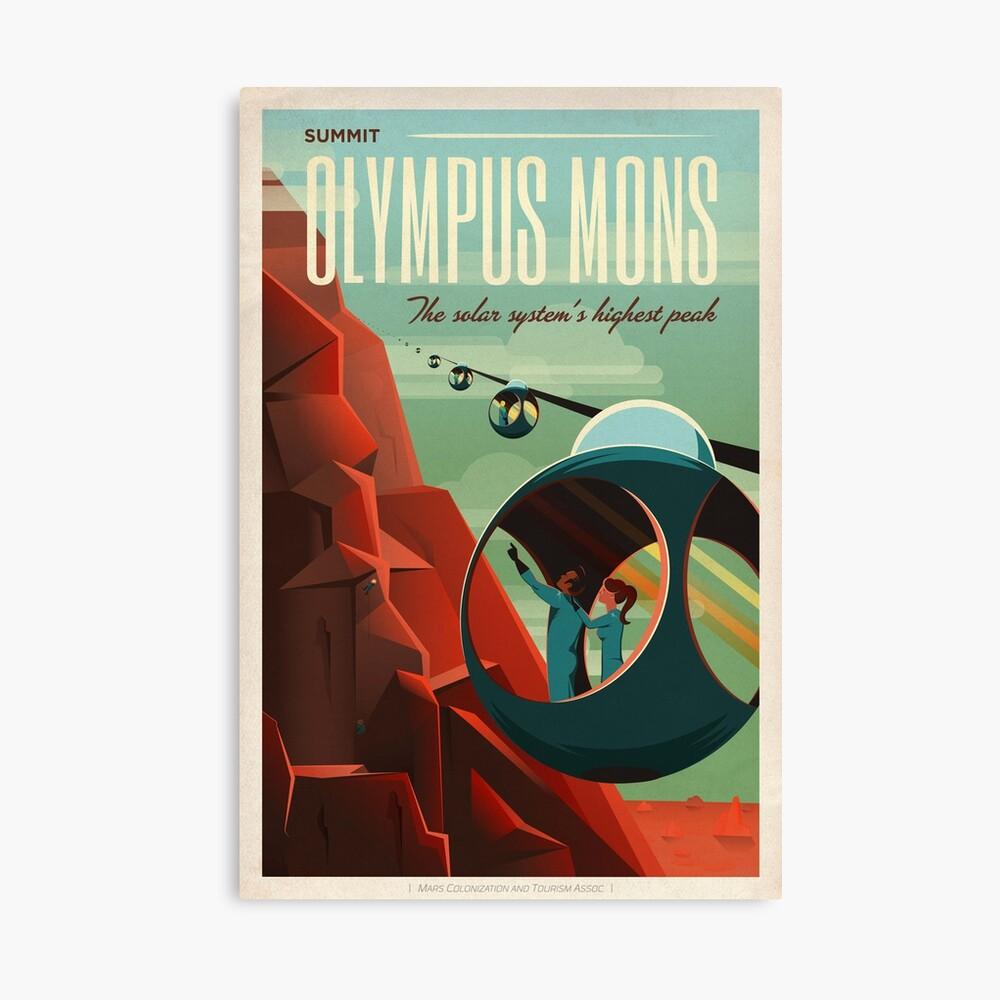 SpaceX Mars Kolonisations- und Tourismusverband: Olympus Mons Leinwanddruck