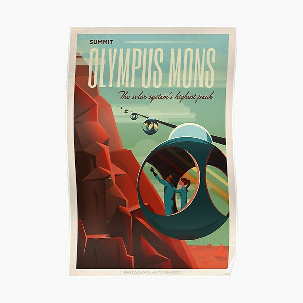 SpaceX Mars Colonization and Tourism Association: Olympus Mons (8K resolution) Poster
