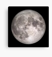 The Full Moon - HD Photo Of the Moon -  Canvas Print