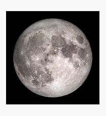 The Full Moon - HD Photo Of the Moon -  Photographic Print