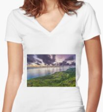 Golf Course Lookout Women's Fitted V-Neck T-Shirt