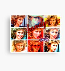 GREASE - SANDY - COLLAGE Canvas Print