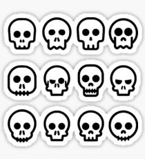 Comic Skulls Sticker