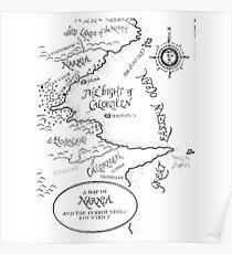 Narnia Map Poster