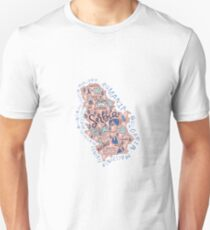 Map of Serbia Unisex T-Shirt