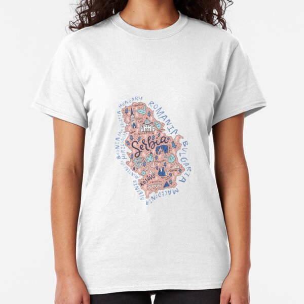 Map of Serbia Classic T-Shirt