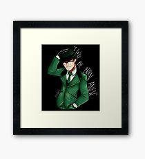 The Riddler is Coming Framed Print