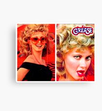 GREASE - SANDY - COLLAGE #3 Canvas Print