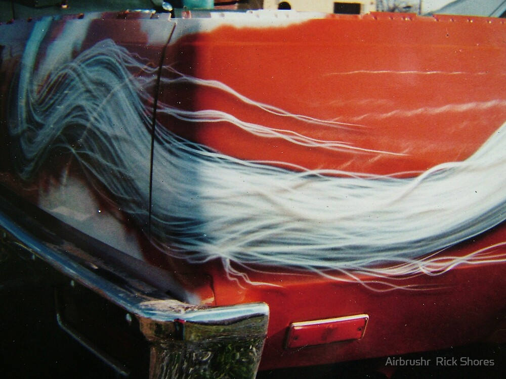 horse car airbrushed by Airbrushr  Rick Shores