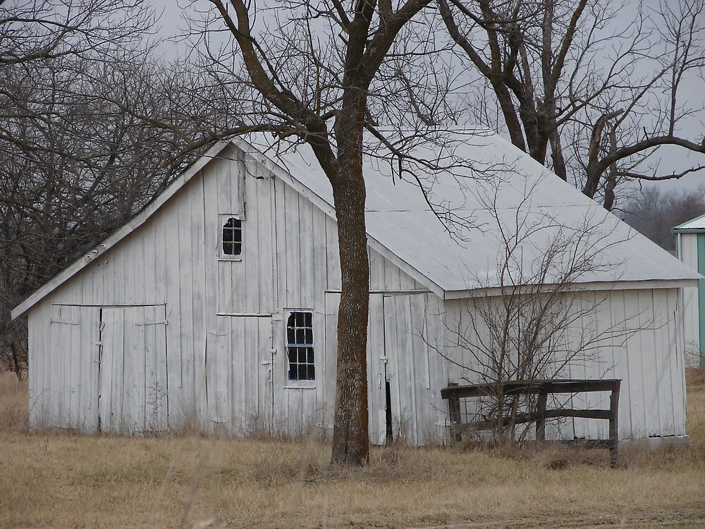 White Washed Barn by inventor