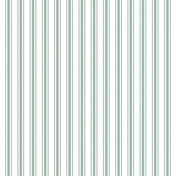 Mattress Ticking Wide Striped Pattern in Moss Green and White by podartist