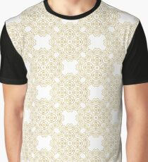Golden pattern on white background Graphic T-Shirt