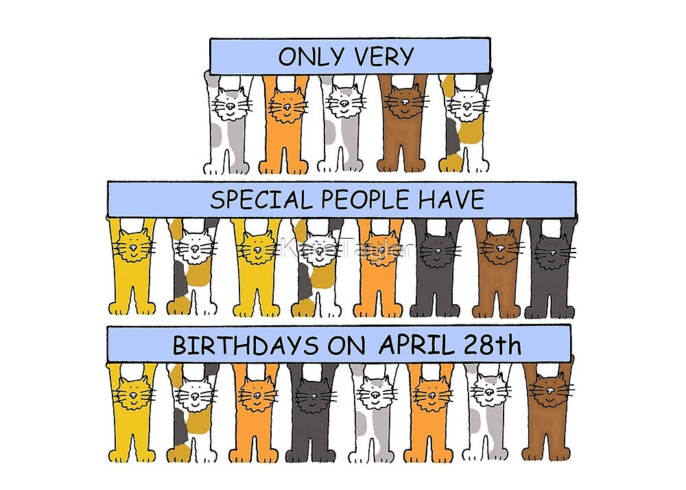 April 28th Birthday Cats. by KateTaylor