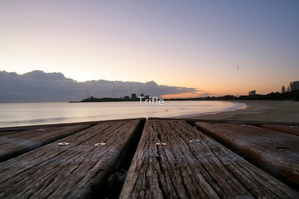 Mooloolaba Beach at sunrise by Trifle