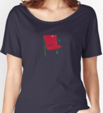 The Lone Red Seat - Red Sox - Fenway Park Women's Relaxed Fit T-Shirt
