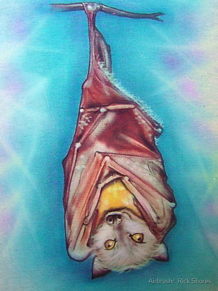 Hangin'bat t shirt airbrush by Airbrushr  Rick Shores
