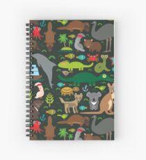 Cuaderno de espiral Divertidos animales australianos