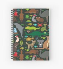 Funny australian animals Spiral Notebook