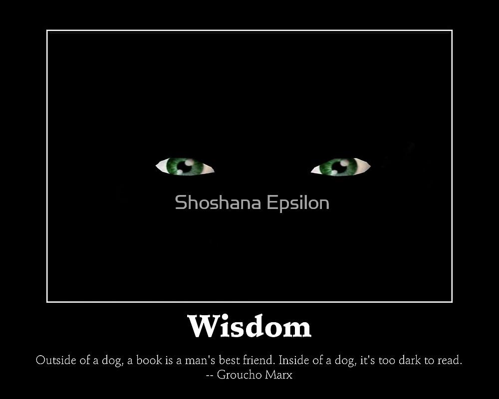 Wisdom Poster by Shoshana Epsilon