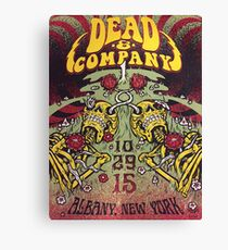 Dead &Company Albany NY Exclusive Poster Canvas Print