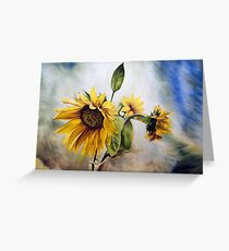 "Oil painting ""Sunflower"" Greeting Card"