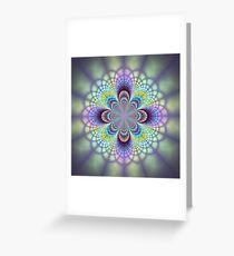 Mosaic window Greeting Card