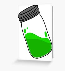 TEW Green Jar Greeting Card