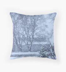 It is not nice to fool Mother Nature...... Throw Pillow