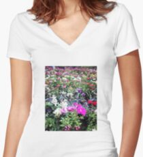 Bouquet of roses. Fitted V-Neck T-Shirt