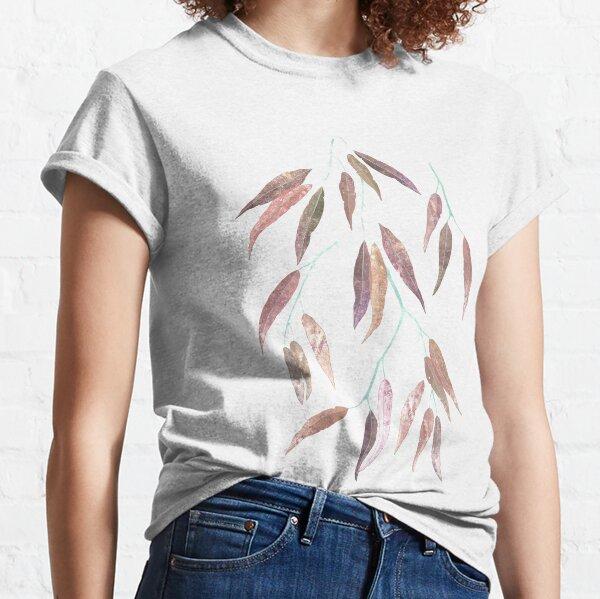 Eucalyptus leaves in autumn colors Classic T-Shirt