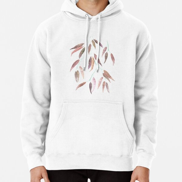 Eucalyptus leaves in autumn colors Pullover Hoodie