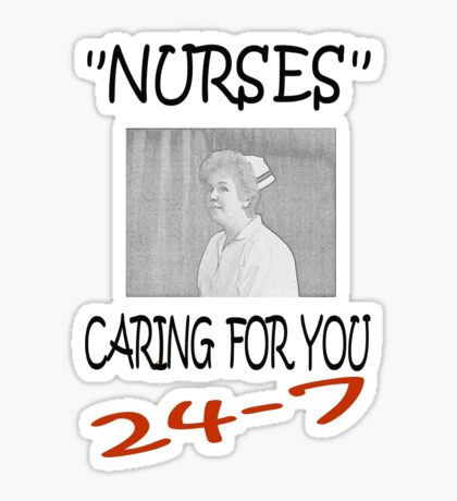 Nurses Caring For You Sticker