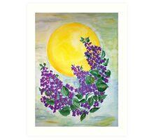 Midsummernight lilacs Art Print