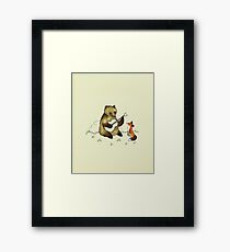 Bear & Fox Framed Print