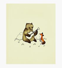 Bear & Fox Photographic Print