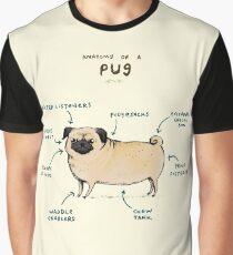 Anatomie eines Mops Grafik T-Shirt