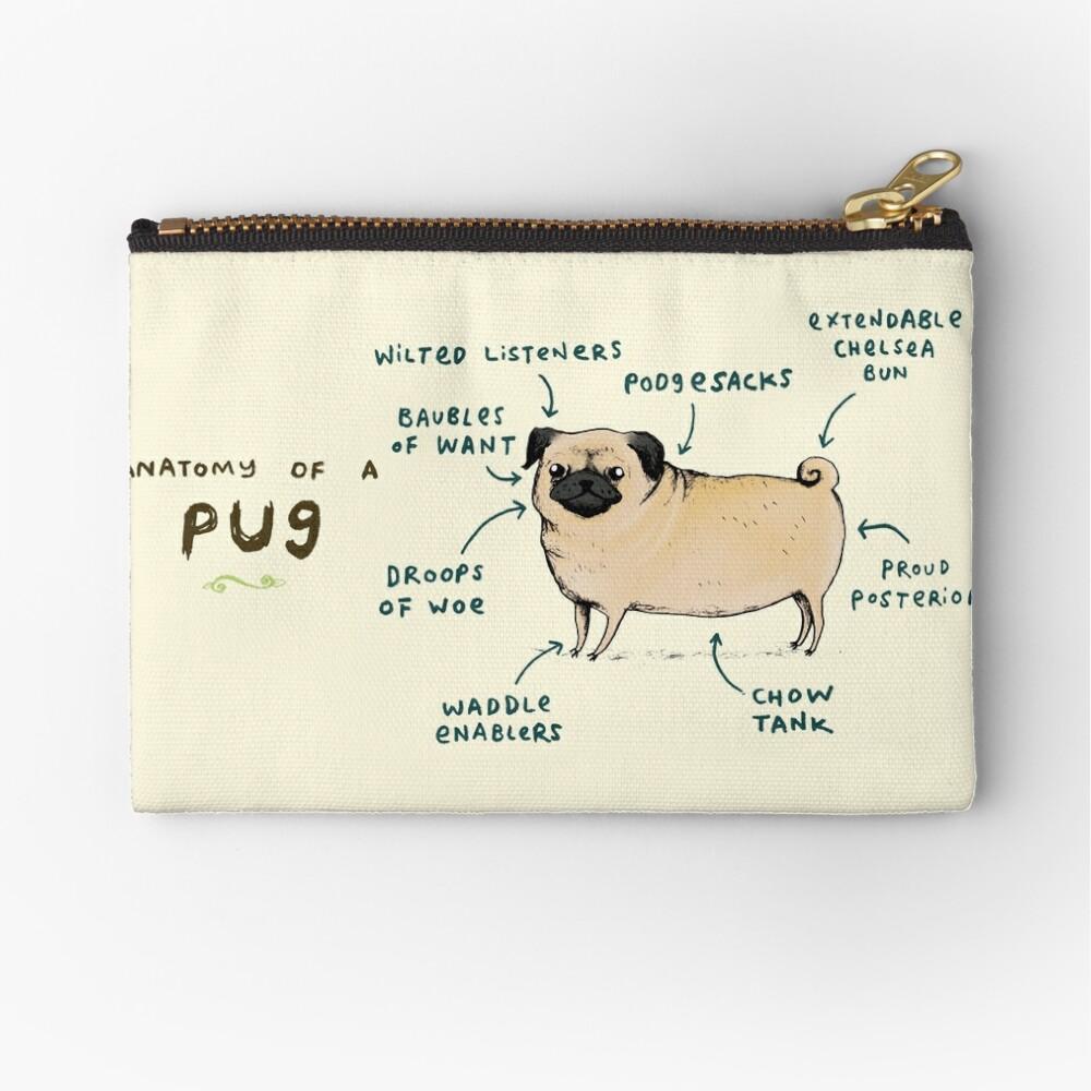 Anatomy of a Pug Zipper Pouch