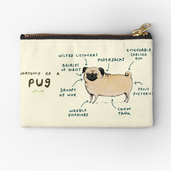 Anatomy of a Pug Zipper Pouch