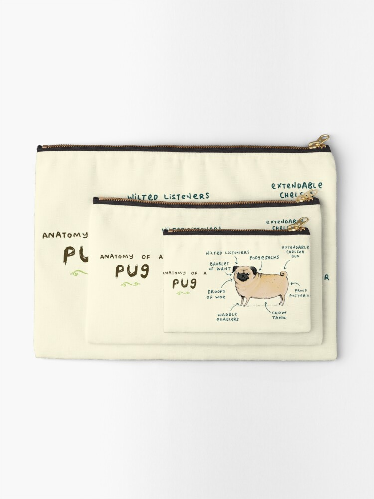 Alternate view of Anatomy of a Pug Zipper Pouch