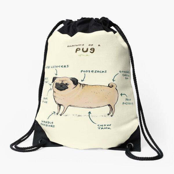 Anatomy of a Pug Drawstring Bag