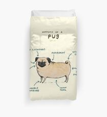 Anatomy of a Pug Duvet Cover