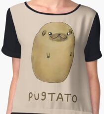 Pugtato Women's Chiffon Top