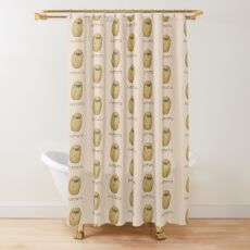 Pugtato Shower Curtain