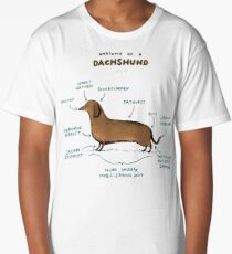Anatomy of a Dachshund Long T-Shirt