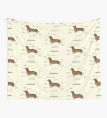 Anatomy of a Dachshund Wall Tapestry