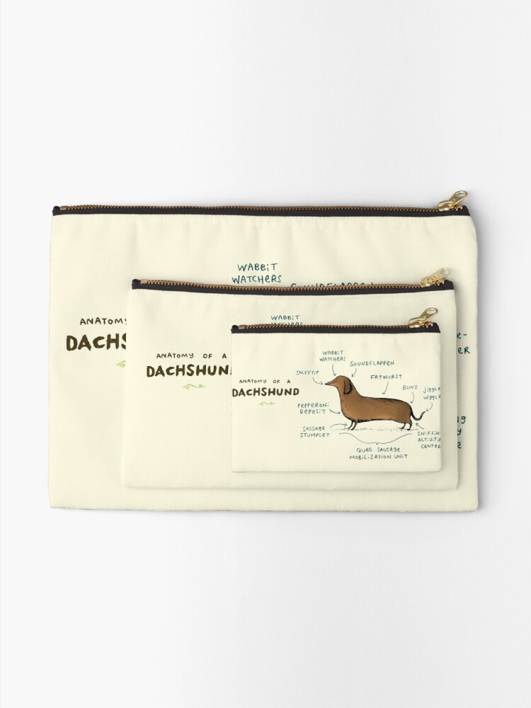 Alternate view of Anatomy of a Dachshund Zipper Pouch