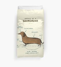 Anatomy of a Dachshund Duvet Cover